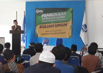 Pembukaan Semester Genap dan Kuliah Umum STIQ Ar - Rahman oleh Ustadz Abdul Hafiz
