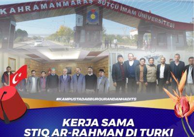 Kerja Sama STIQ Ar-Rahman Dengan Salah Satu Universitas Di Turki